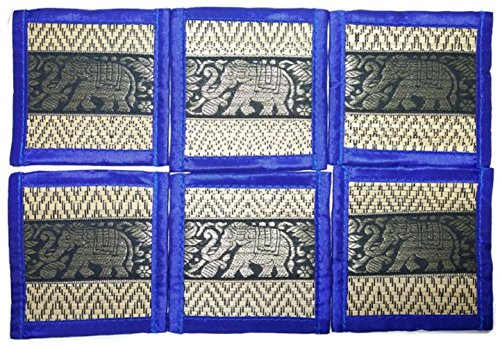 chic-nature-reed-elephant-collection-6-piece-handmade-coaster-set-assorted-color-blue-1