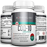 High Efficiency COQ10 Supplement Pills - Coenzyme Q10 Capsules with 200mg of Pure Ubiquinone Protect Your Heart, Raise Energy Levels, Alleviate Pain and Improve Blood Pressure with no Side Effects