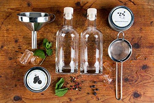 Gin Set zum Selbermachen. Dein selbst hergestellter Wacholderschnaps für den nächsten lustigen Abend. Perfekt als Geschenk für die Liebsten.