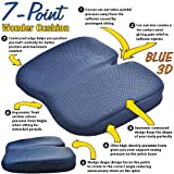 Freedom Wedge Seat Cushion - Great for Coccyx Relief, Lumbar Support, Back Pain in the Car or at Home - CHOOSE 3D Mesh or Short Plush Coverby Great Ideas