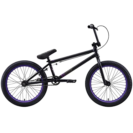 Matte Black And Purple Bmx Matte Black/purple Rim
