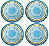 Zak Designs Hampton 8-Inch Melamine Salad Plate Set of 4-Dinnerware for Adults or Children