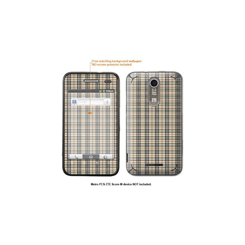 Protective Decal Skin Sticker for Metro PCS ZTE Score M case cover ZTEscoreM 623