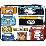 "Snoogg Multi Camera Cartoon 15"" Inch To 15.5"" Inch To 15.6"" Inch Laptop Netbook Notebook Slipcase Sleeve Soft Case Cover Bag Notebook / Netbook / Ultrabook Carrying Case For Macbook Pro Acer Asus Dell Hp Sony Toshiba"