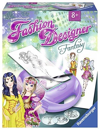 Ravensburger - Fashion Designer Fantasy, juego de creatividad para niños (185061)