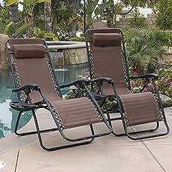 Bellezza© 2-Pack Zero Gravity Chairs