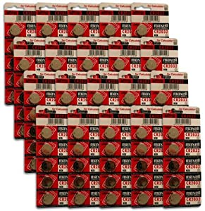Maxell CR2032 3V Micro Lithium Button Coin Cell Battery 1 Box of 100 Batteries