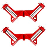 Beduan 90 Degree Right Angle Clip Fixed Corner Clamp Multifunction Hand Tool for DIY Fishtank Woodworking Picture Frame (Pack of 2) (Tamaño: 2pcs)