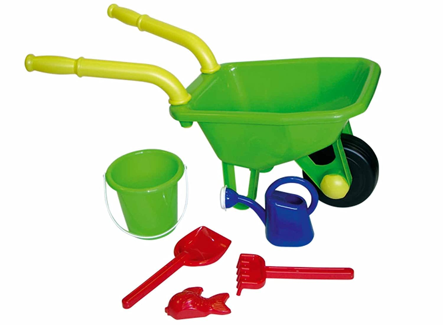 Kids childrens childs wheelbarrow gardening tools play set for Gardening tools toddlers