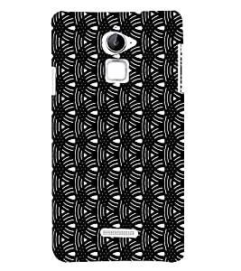 Circular Black Pattern 3D Hard Polycarbonate Designer Back Case Cover for Coolpad Note 3 Lite :: Coolpad Note 3 Lite Dual SIM