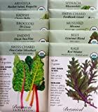 "Search : ""Go Greens"" 10 Organic Seed Packets By Botanical Interests in Reusable Gift Box"