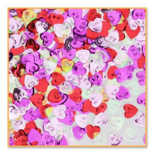 Beistle CN052 Embossed Hearts Confetti, 1/2-Ounce