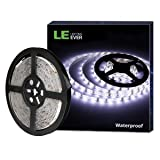 LE 12V LED Strip Light, Flexible, Waterproof, SMD 2835, 16.4ft Tape Light for Christmas, Home, Kitchen and More, Daylight White (Color: Daylight White, Tamaño: 1 Pack)