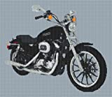 Harley Davidson XL1200 L Sportster Custom Cross Stitch Kit