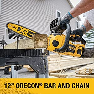 DEWALT DCCS620B 20V MAX XR Compact 12 in. Cordless Chainsaw (Tool Only) (Color: DEWALT DCCS620B 20V Max Compact Cordless Chainsaw Kit Bare Tool with Brushless Motor, Tamaño: 20V)