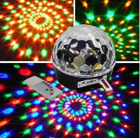 Ytm(Tm) Club Disco Dj Party Ball Lights Mp3 Music Remote Control Colors Changing Effect Mini Led Stage Laser Lights