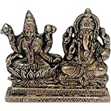 Antique Look Lord Laxmi Ganesha Statue Hindu Goddess Laxmi And God Ganesh Handicraft Idol Diwali Decorative Spiritual...