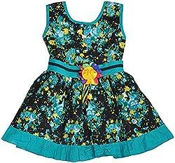 Be BeBo Girl's Cotton Dress (847, Green, 1 Year )