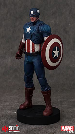 Semic - Smmc003 - Figurine Bande Dessinée - Captain America - Marvel Now - Version 1/9 Statue - Museum Collection