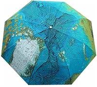 Three Elephant World Map Compact Auto Umbrella from Three Elephant