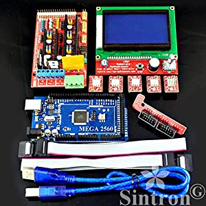 [Sintron] 3D Printer Controller Kit RAMPS 1.4 + Mega 2560 R3 + 5pcs A4988 Stepper Motor Driver with Heatsink + LCD 12864 Graphic Smart Display Controller with Adapter For Arduino RepRap from Sintron