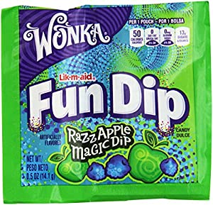 Wonka Lik-m-aid Fun Dip Candy (48 pcs. per unit, 1.5 lb.) Fat-free.