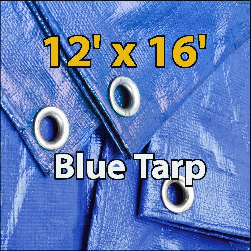 12x16-Blue-Waterproof-Poly-Tarp-for-Camping-Hiking-Backpacking-Tent-Shelter-Shade-Canopy-Etc