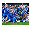 Frank Lampard Signed Chelsea Football Photo: The Winning Team (Large)