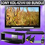 Sony Bravia V-Series KDL-42V4100 42in. 1080P LCD HDTV + Sony DVD Player w/ TV Stand Accessory Kit