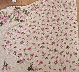 Ustide Rustic Rose Flowers Area Carpet,home Decor Cotton Pink Roses Pattern Bedroom Floor Rugs,unique Quilted Non-slip Washable Bathroom Rug 2x4 from Ustide