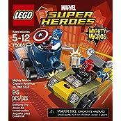 Super Heroes Lego 95 Pcs Mighty Micros: Captain America Vs. Red Skull Brick Box Building Toys