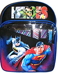 Justice League backpack Superman Batman Green latern Flash Incredible Hulk