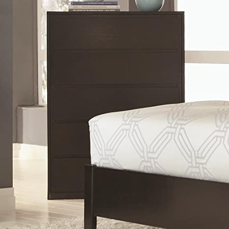 Hudson 5 Drawer Chest in Espresso Finish by Coaster Furniture