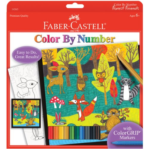 Faber-Castell - Color by Number Forest Friends Art Set - Premium Kids Crafts - 1
