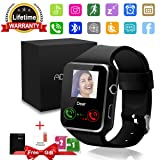 Bluetooth Smart Watch with Camera Touchscreen,Waterproof Smartwatch Unlocked Phone Watchs with SIM Card Slot, Smart Wrist Watch Compatible with Android iPhone X 8 7 6 5 Plus (Color: X6, Tamaño: (2.4 x 1.6 x 0.5)inch smart watch)