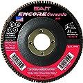 SAIT 72828 Encore Ceramic Flap Disc with 5-Inch-Inch Diameter and 7/8-Inch Arbor, 10-Piece