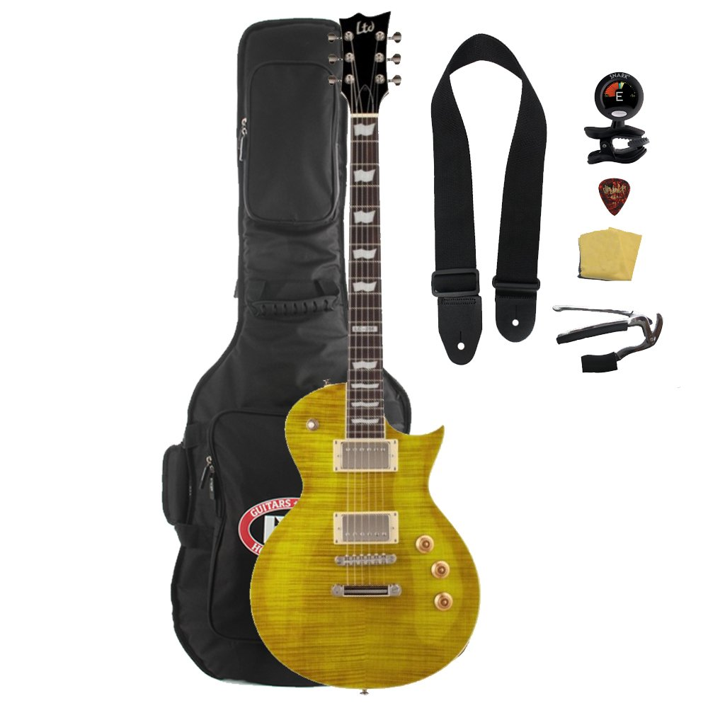 ESP LTD EC-256FM Electric Guitar with Gig Bag Bundle, Lemon Drop электронные компоненты serial wifi esp8266 wifi esp 07 esp 08 esp 12