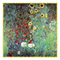 Art Nouveau Artist Gustav Klimt's Sunflowers Counted Cross Stitch Chart/Graph
