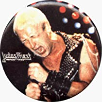 Judas Priest - Robert Halford (Singing) - 1 1/4&quot; Button / Pin - AUTHENTIC EARLY 1990'S PIN