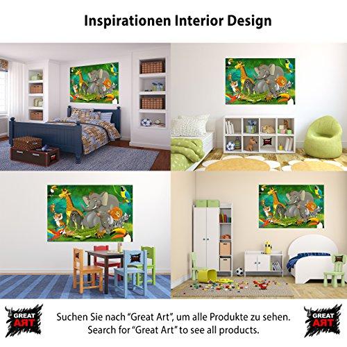 Animali della giungla fotomurale giungla con animali - Decorazione parete cameretta ...