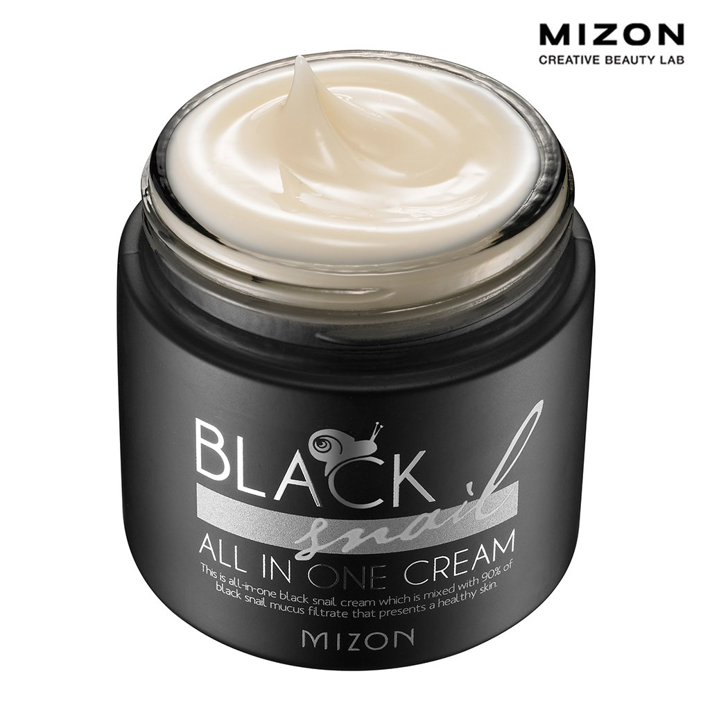 MIZON Black Snail All In One Cream, 2.40 Ounce