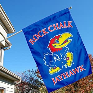 Buy Kansas Jayhawks Banner House Flag by College Flags and Banners Co.