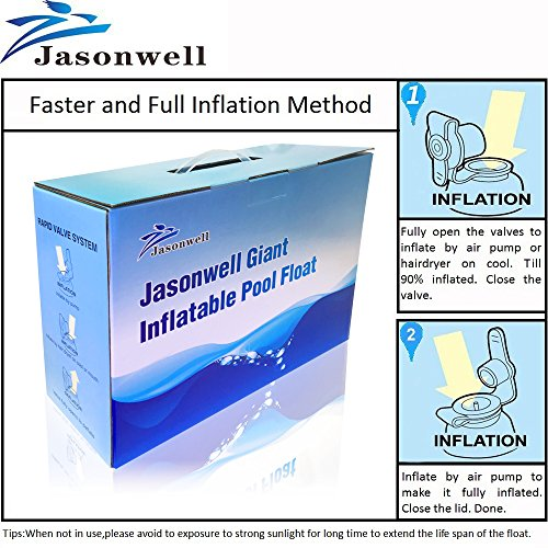 JasonwellLicorne-Gonflable-Gant-Flotte-dans-la-Piscine-avec-des-Valves-rapides-Spciales