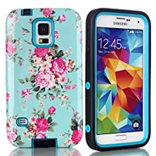 buy Samsung Galaxy S5 Hard Case, Hybrid Dual Layer 3 In 1 Shock Armor Defender Protective Case Cover (Hard Plastic With Soft Silicone) New Dream Sky Stars Design Case For Samsung Galaxy S5