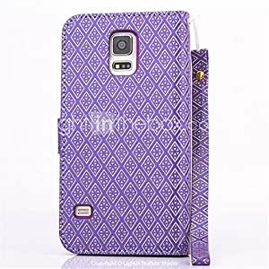 Diamond Design Leather Flip Stand Wallet Wrist Strap Rope Cover Case For Galaxy Note 4 #04579225
