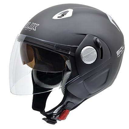 NZI 150212G093 Solar SOB Casque de Moto, Noir Mat, Taille : M
