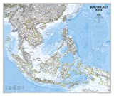 National Geographic Maps Southeast Asia Classic, tubed Wall Maps Countries & Regions (National Geographic Reference Map)