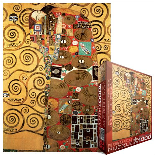 Cheap Fun EuroGraphics The Fulfillment (detail) by Gustav Klimt 1000 Piece Jigsaw Puzzle (B004LT7JIW)