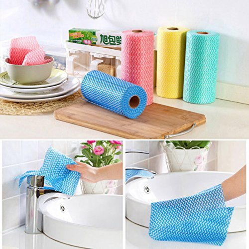 50Pcs/Lot Throwaway High Efficient Anti Greasy Bamboo Fiber Hand Washing Dish Cleaning Cloth And Wiping Rag Dishcloth^. (Rachel Ray Cookware Lazy compare prices)
