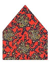 Tiekart Printed Silk Pocket Square (Ps362_Multi)